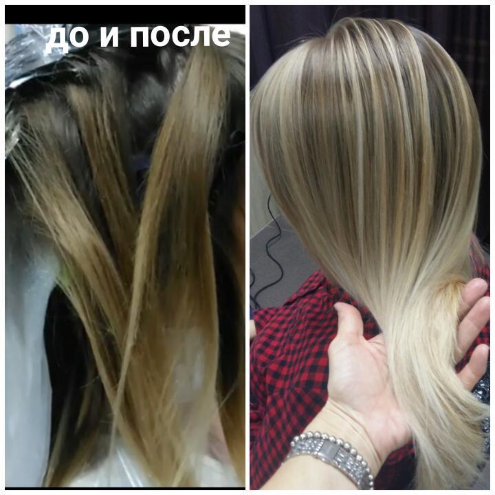 Окрашивание волос OMBRE, BROND и др.